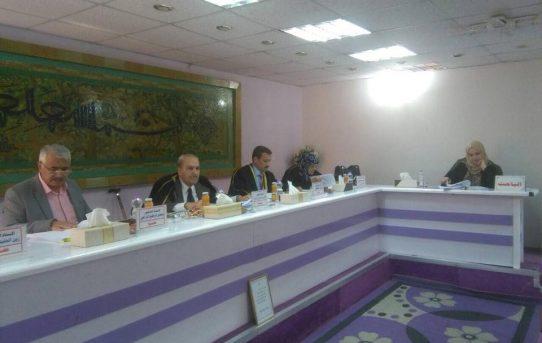 مناقشة طالبة الدكتوراه/ زينب عبد الله هلال