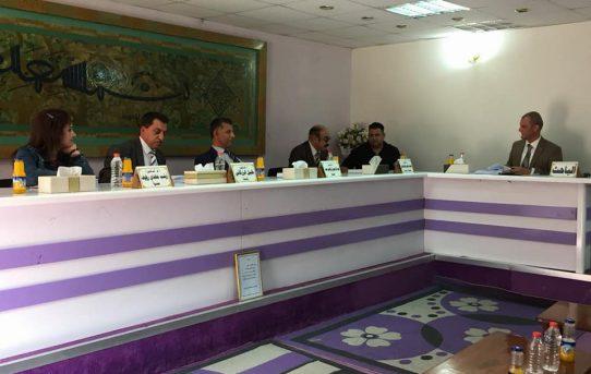 مناقشة طالب الدكتوراه/ غازي شندوخ حميد