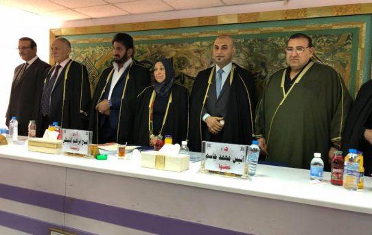 مناقشة طالب الدكتوراه/ عبد الله جلال الفراجي